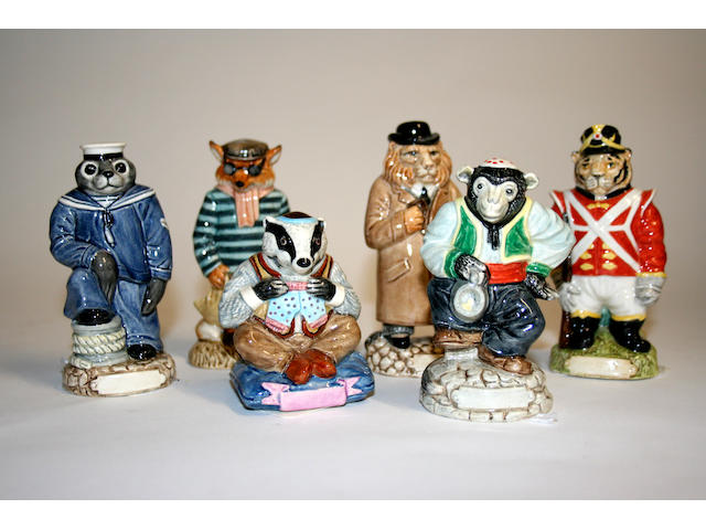 Storybook Six Doulton prototype animal studies, circa 1985