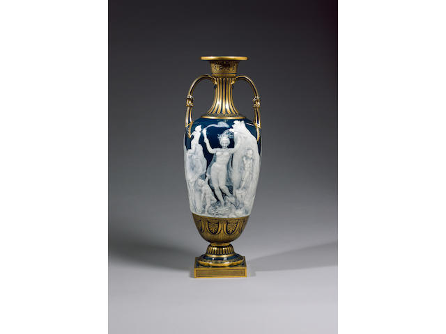 'Salome', a very important Minton pâte-sur-pâte vase by Louis Solon circa 1892