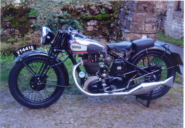 1933 Norton 490cc Model 18  Frame no. 48806 Engine no. 54895
