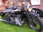 Single family ownership for 59 years,1938 Brough Superior 982cc SS80 & Blacknell Sidecar