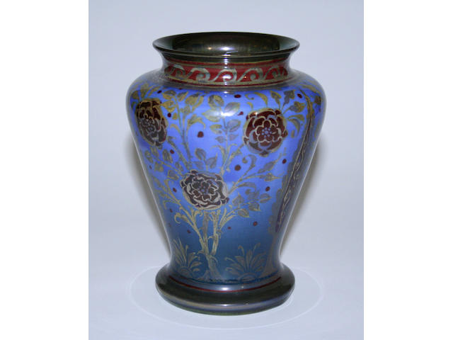 Royal Lancastrian lustre vase by Richard Joyce, dated 1926