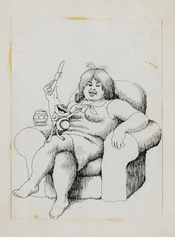 Robert Crumb (American, b.1943) Oggie the Frog, 1964-1965 8 3/x 6 3/4in (22.5 x 17cm)