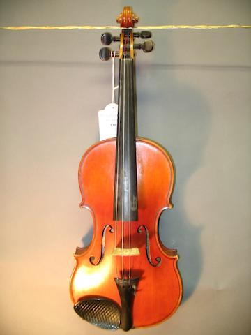 A good Violin by Jules Camille Boulangeot, Brussels, 1924.
