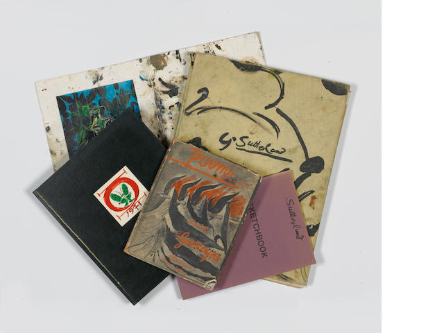 Graham Sutherland A Collection of books and leaflets from the artists studio Including, 'Graham Suth