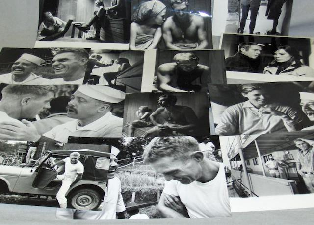 A collection of twenty black and white Steve McQueen related stills,
