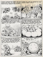 Robert Crumb (American, b.1943) City of the Future, 1967 (5) sight 10 3/4 x 8 1/4in (27.3 x 20.7cm)