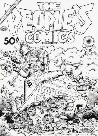 Robert Crumb (American, b.1943) The People's Comics, 1972 sight 12 x 8 3/4in (31 x 22cm)