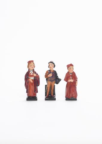Three Prototype Doulton Miniature Figures circa 1935
