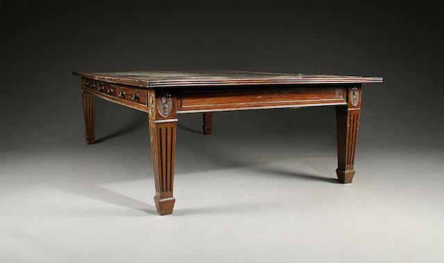 A large early 20th Century mahogany boardroom table