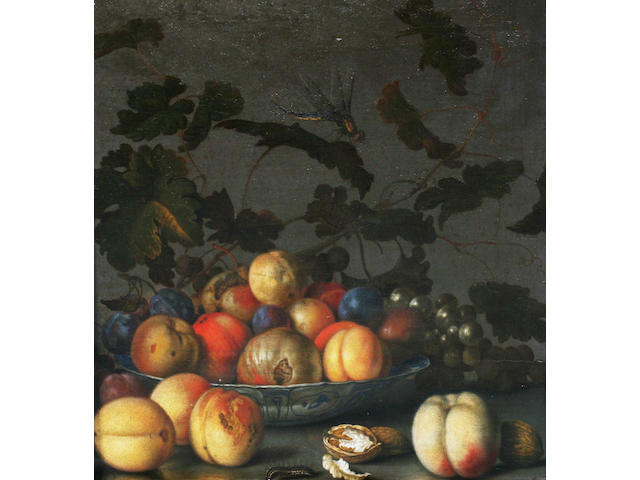 Balthasar van der Ast (Middleburg before 1590-after 1656 Delft) A wan-li-kraak bowl of fruit  38 x 35 cm. (15 x 13 ¾ in.)