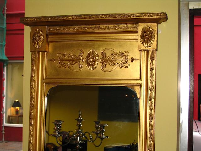 A Regency style giltwood and gesso pier glass