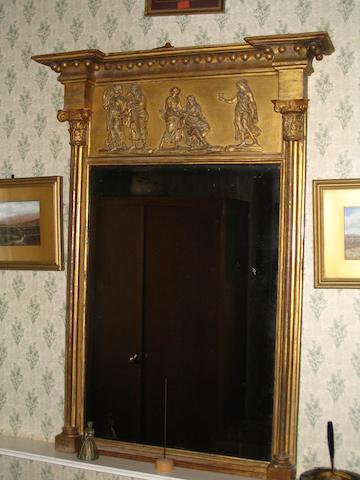 A Regency giltwood and gesso pier glass