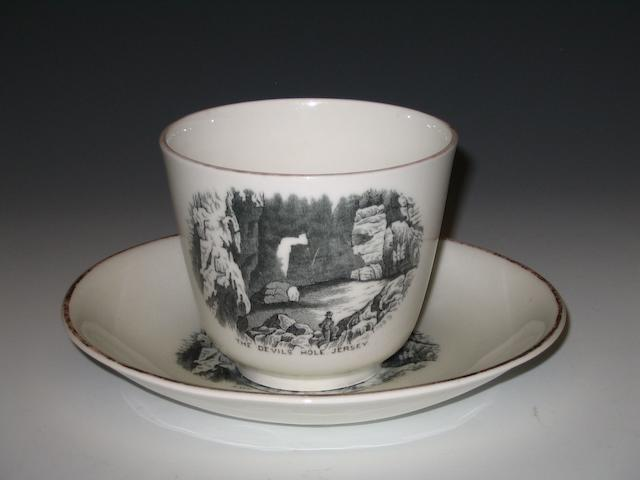 A late 19th/early 20th century cup and saucer