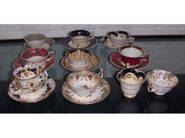 A Rockingham tea cup and saucer