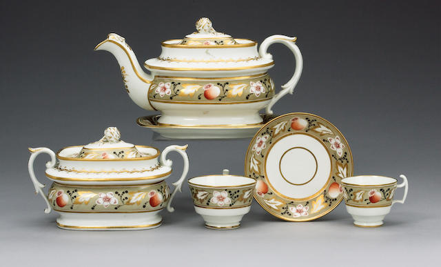 A Swansea part tea and coffee service circa 1815-17