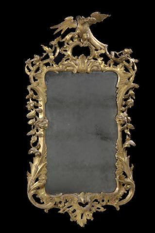 A George III giltwood wall mirror