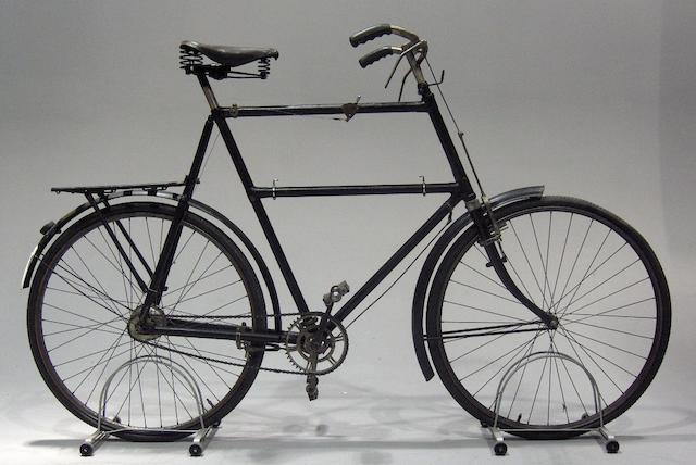 An interesting and large gentleman's bicycle,