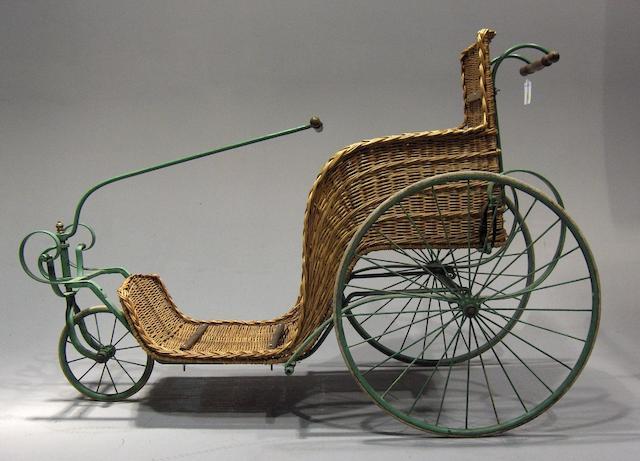A Victorian basket chair,