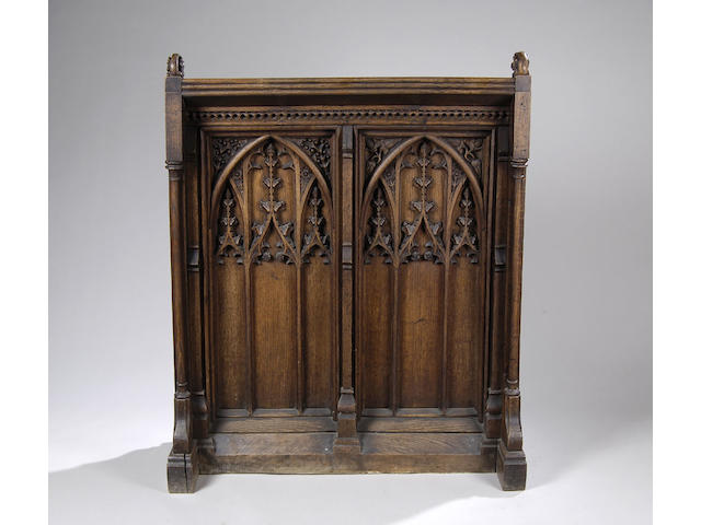 A Victorian carved oak lectern in the Gothic style