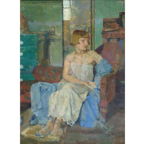 Malcolm Drummond (1880-1941) 'Girl in a Chemise'