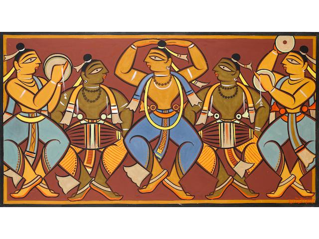 Jamini Roy (India, 1887-1972) Musicians