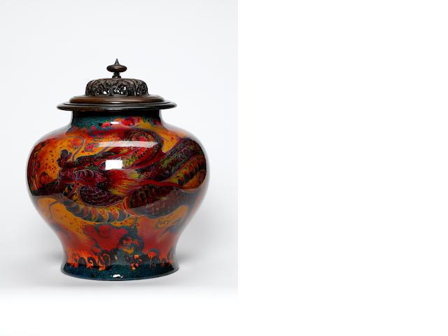 An Impressive Doulton Sung Exhibition Quality Vase by C.J Noke circa 1920