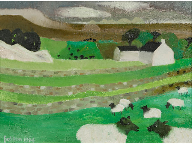 "Mary Fedden OBE RA (1915-) ""Yorkshire Dales"""