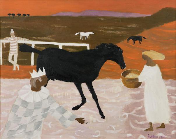 Mary Fedden OBE RA PPRWA (1915-) 'The Black Horse'