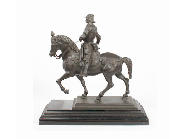 A Renaissance style bronze of a general on horseback
