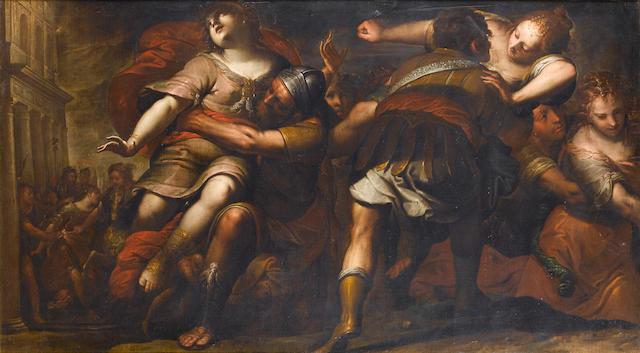 Giovanni Stefano Danedi, called Montalto (Treviglio 1618-1688) The Rape of the Sabine Women 104.5 x