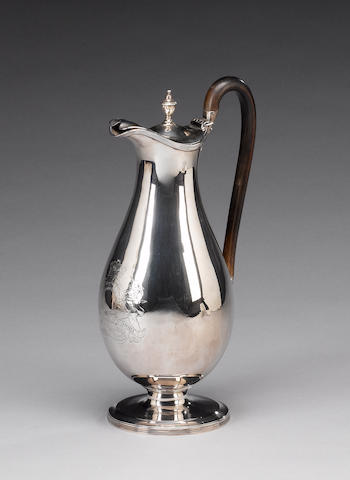 A George III silver ewer, by  Henry Chawner, London 1789,