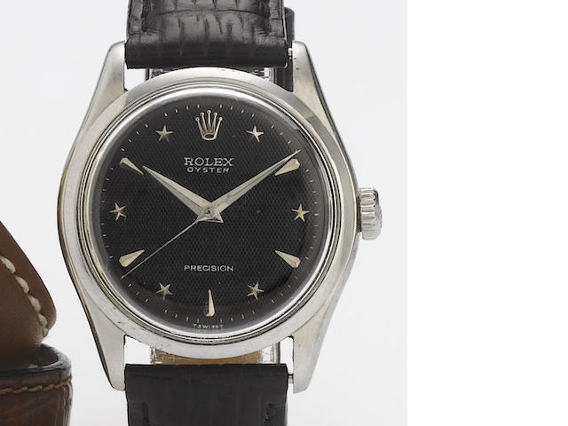 Rolex. A stainless steel centre seconds wristwatch with star dial  Ref:6282, 1960's