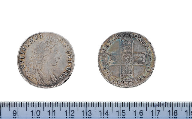 William III, Halfcrown, 1698, first draped bust right,