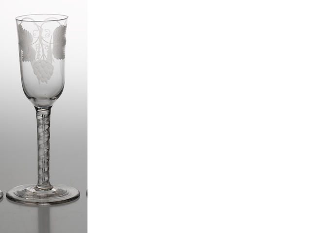 An air twist ale glass circa 1760