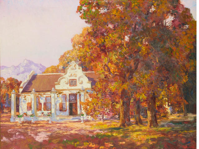 Edward Roworth (South African, 1880-1964) Autumn at Morgenster, Somerset West 71 x 91.5 cm. (28 x 36