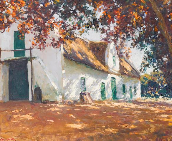 Edward Roworth (South African, 1880-1964) Old wine cellar, Non Pareil 63.5 x 76 cm. (25 x 30 in.)