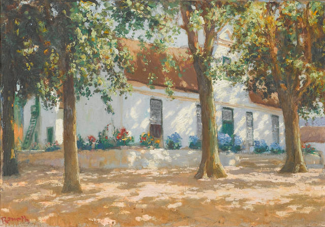 Edward Roworth (South African, 1880-1964) Cape Dutch building, Kromme River 51 x 72.5 cm. (20 x 28½