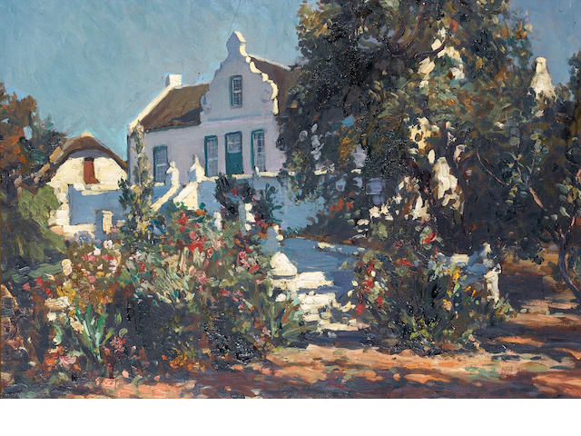 Edward Roworth (South African, 1880-1964) Alphen Estate, Constantia Valley 61 x 77 cm. (24 x 30¼ in.