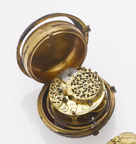 An interesting lot of three pocket watch movements together with two silver pocket watch cases