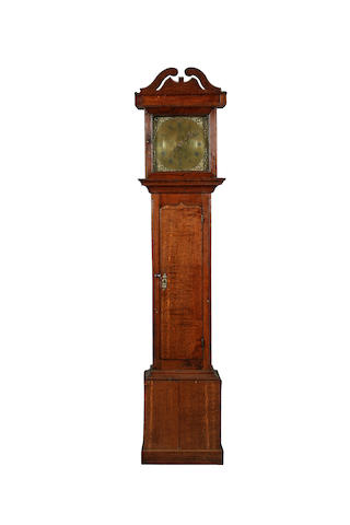 A George III oak-cased 30-hour long-case clock by John Joyce of Ruthin, (1744-1809), sold with weight and pendulum