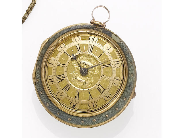 Thomas Tompion. A fine and rare late 17th century pair cased pocket watch London, No.713, circa 1685-87