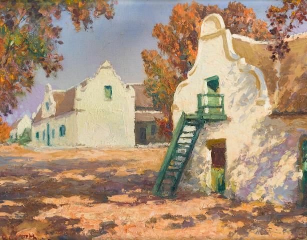 Edward Roworth (South African, 1880-1964)  Schoongezicht Dal Josephat 41 x 51 cm. (16 x 20 in.)