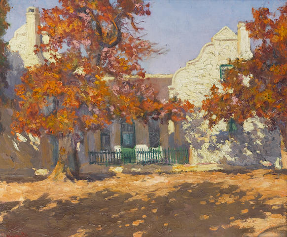 Edward Roworth (South African, 1880-1964) Autumn, Non Pareil, Paarl 51 x 61 cm. (20 x 24 in.)