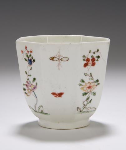 A rare Worcester beaker Circa 1752-3