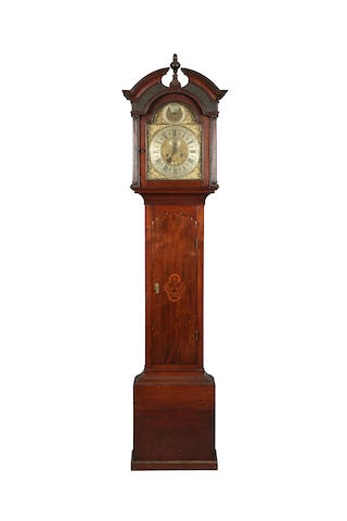 A mid 18th century mahogany-cased 8-day long-case clock by Robert Jones of Chester, sold with two weights, pendulum, key and winder