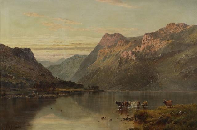 """Alfred de Breanski Sr RBA (1852-1928) """"A Perthshire Valley"""""""