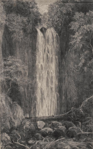 E. Sandys (British, 19th century) Waterfall, Nichols Creek, Dunedin; Nichols Creek, Dunedin, a pair 47 x 29.5 cm. (18½ x 11½ in.)