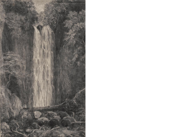 E. Sandys (British, 19th century) Waterfall, Nichols Creek, Dunedin; Nichols Creek, Dunedin, a pair