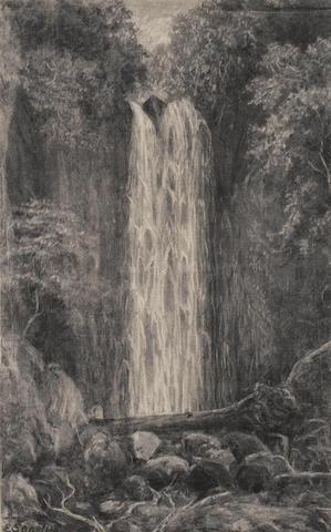E. Sandys (British, 19th century) Waterfall, Nichols Creek, Dunedin; Nichols Creek, Dunedin, a pair