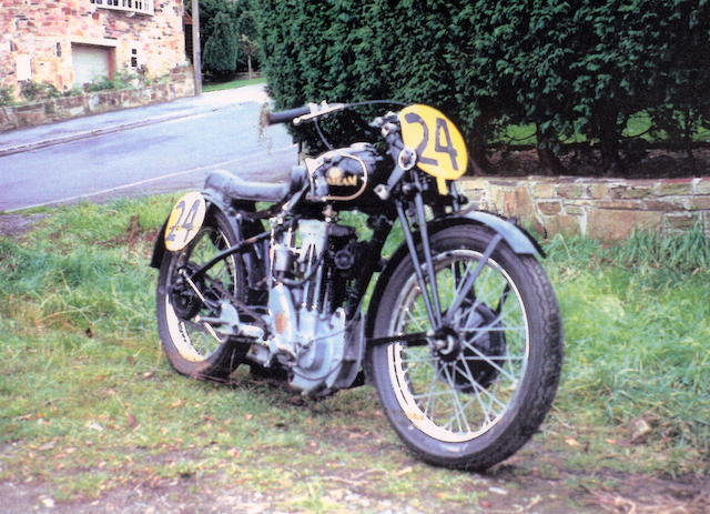 1930/1933 Sunbeam 493cc Model TT90 Racer  Frame no. E8549 Engine no. 7084